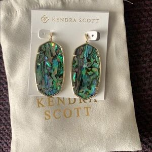 Kendra Scott Danielle Faceted abalone earrings